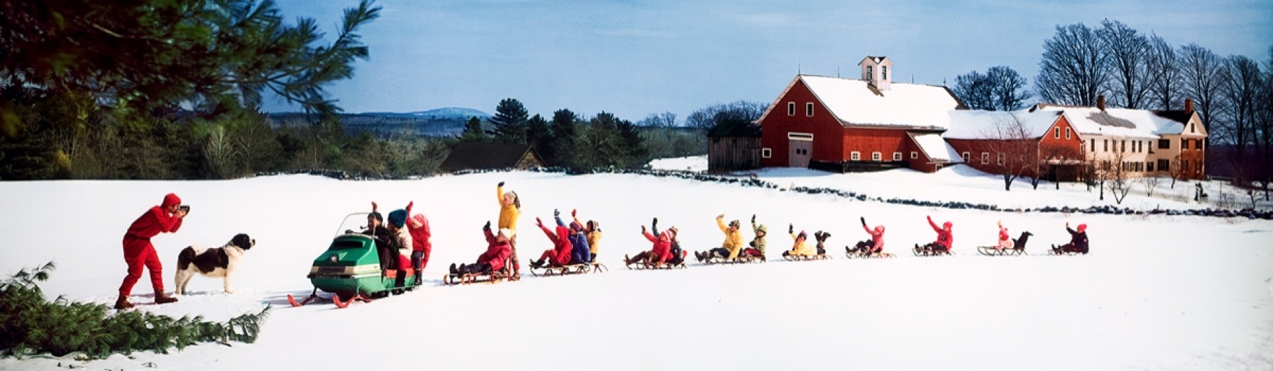 Snowmobile And Sleds 1969 © Ozzie Sweet