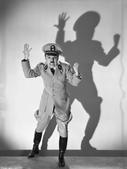 Charles Chaplin as Adenoid Hynkel, The Great Dictator (United Artists) 1939-1940 © Roy Export SAS / courtesy Musée de l'Elysée, Lausanne, scan courtesy Cineteca di Bologna