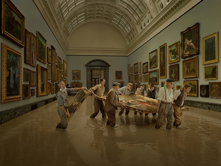 1928 Flooding of the Tate Gallery © Julia Fullerton-Batten