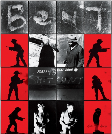 Gilbert & George, BENT SHIT CUNT, 1977 Avec l'aimable autorisation de Gilbert & George