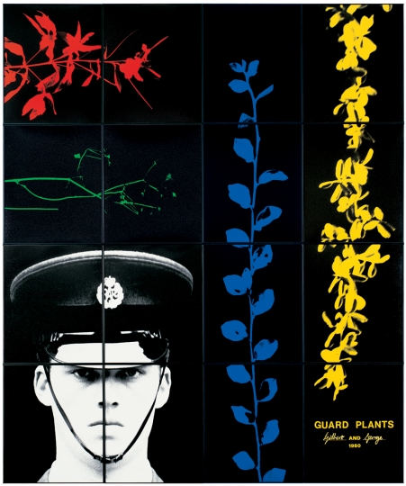 Gilbert & George, GUARD PLANTS, 1980 Avec l'aimable autorisation de Gilbert & George