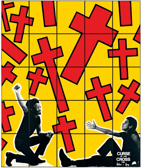 Gilbert & George, CURSE OF THE CROSS, 1982 Avec l'aimable autorisation de Gilbert & George