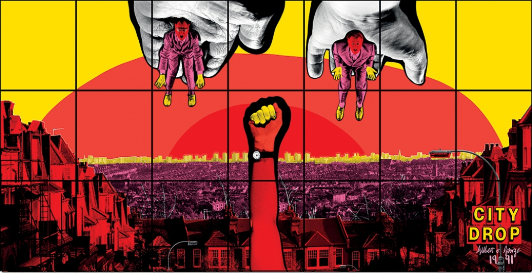 Gilbert & George, CITY DROP, 1991 Avec l'aimable autorisation de Gilbert & George