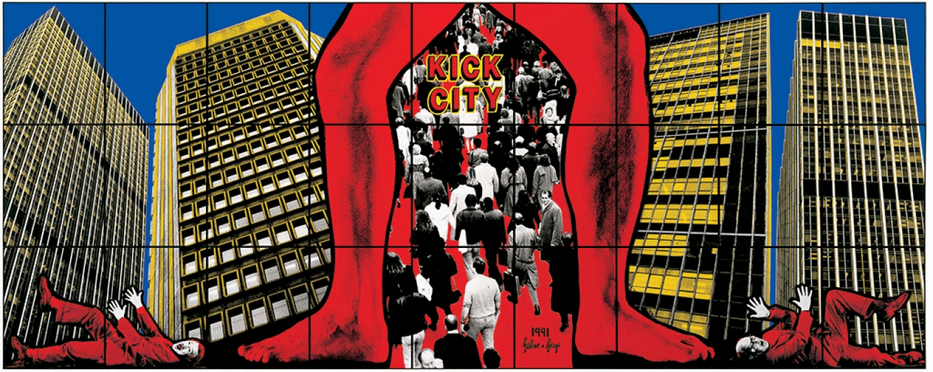 Gilbert & George, KICK CITY, 1991 Avec l'aimable autorisation de Gilbert & George