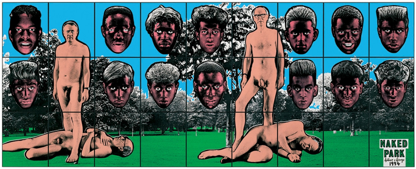 Gilbert & George, NAKED PARK, 1994 Avec l'aimable autorisation de Gilbert & George