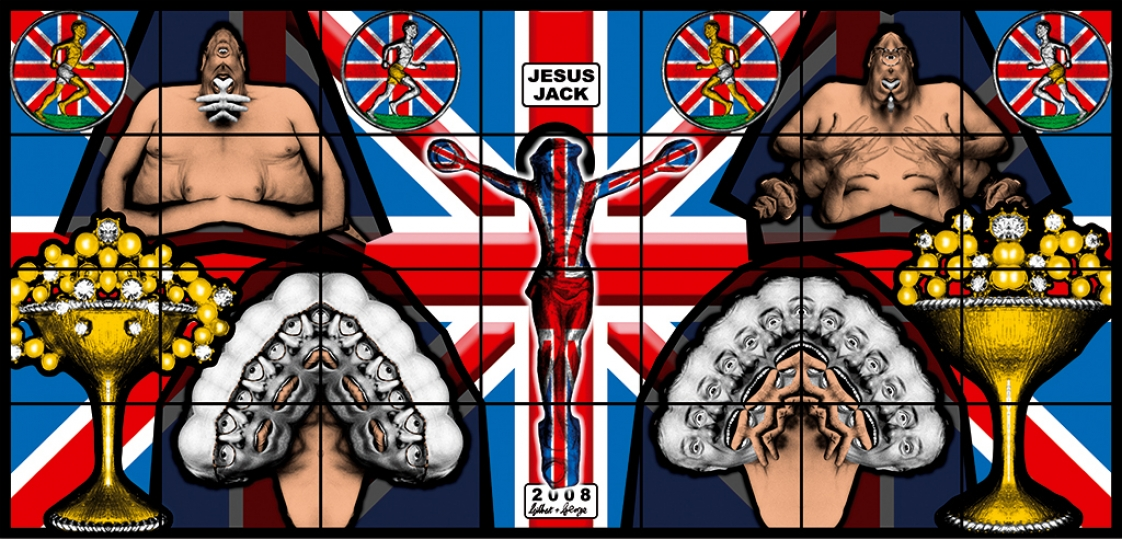 Gilbert & George, JESUS JACK, 2008 Avec l'aimable autorisation de Gilbert & George
