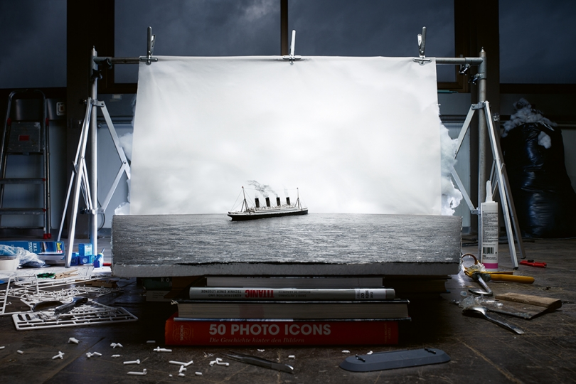 "Making of ""The Last Photo of the Titanic Afloat"" (by Francis Browne, 1912), 2014 © 2018 Jojakim Cortis and Adrian Sonderegger"