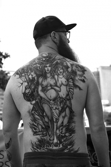 'Denver PRIDE' - Back Tattoo © Daniel Levine