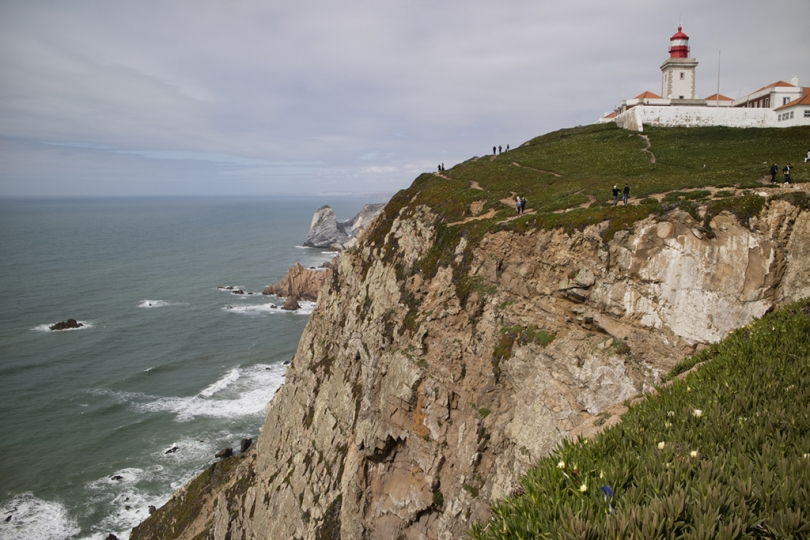 April 27, 2018, Cascais, Portugal: The Atlantic coast from Cascais northwards holds many natural and mand-made attractions. Throngs of tourists flock to Cabo da Roca, the westernmost point in Europe. © ALLAN TANNENBAUM