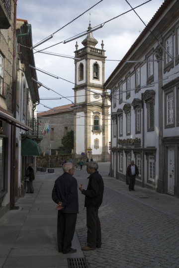 May 6, 2018, Guarda, Portugal: Scenes from the old city including graduates from a polytechnic school celebrating near the cathedral and a new shopping mall. © ALLAN TANNENBAUM