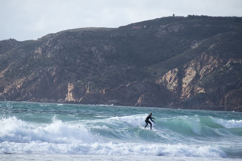 April 27, 2018, Cascais, Portugal: The Atlantic coast from Cascais northwards holds many natural and mand-made attractions. Praia do Guincho is popular with surfers from all over Europe. © ALLAN TANNENBAUM