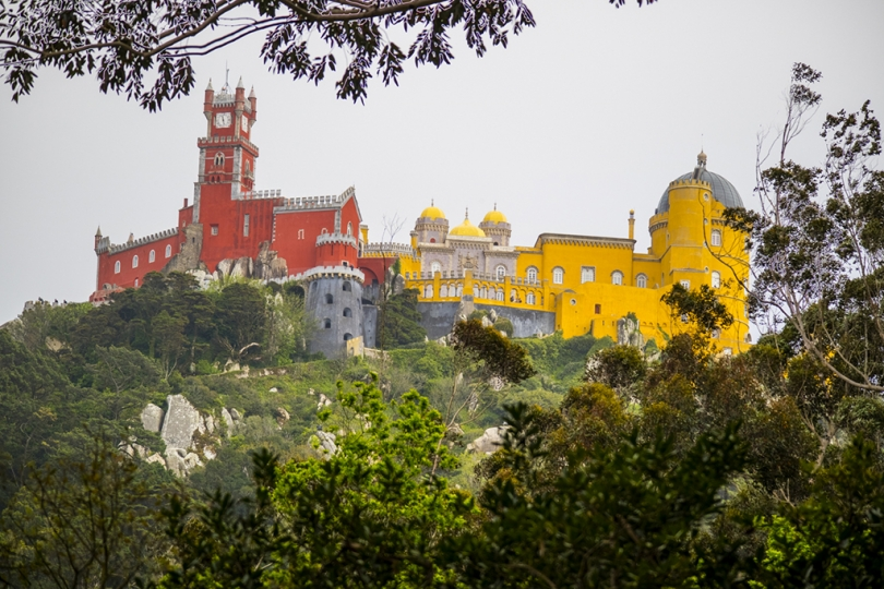 April 25, 2018, Sintra, Portugal: Allan abd Debora Tannenbaum photograph the Palacio da Pena and the Palacio and Quinta da Regaleira. Palaco da Pena on its hilltop perch. © ALLAN TANNENBAUM