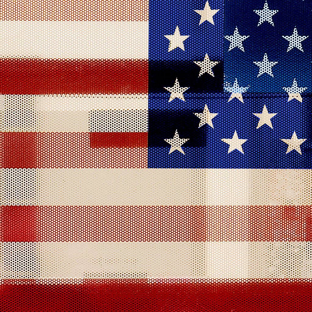 'Through The American Flag' - American flag © Etienne Buyse