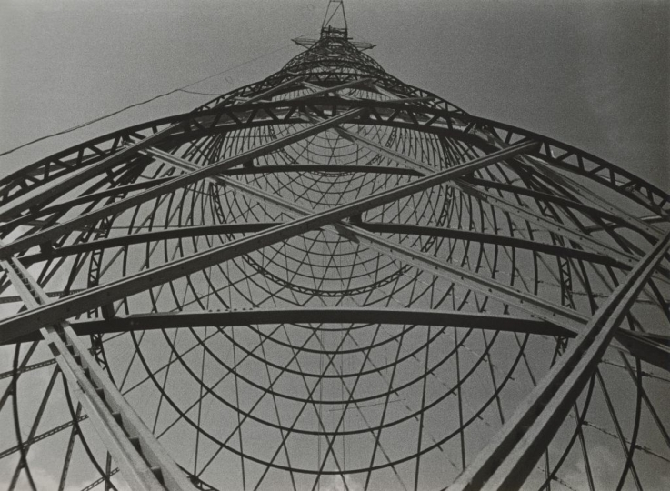Shukhov Tower, Moscow, 1929 ©Alexander Rodchenko, Modern silver gelatin print from the artist's negative, Collection of the Multimedia Art Museum, Moscow