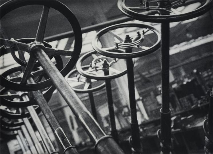 Steering Wheels. From the 'AMO automobile plant' series, Moscow, 1929, ©Alexander Rodchenko, Modern silver gelatin print from the artist's negative, Collection of the Multimedia Art Museum, Moscow