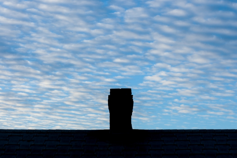 Changing skies, clouds, weather and times of day around a Smokeless Chimney © Albert Normandin