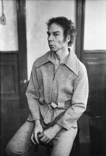 Merce Cunningham, March 22, 1973 Vintage gelatin silver print, printed ca. 1973 -Copyright Fred W. McDarrah, Courtesy Steven Kasher Gallery, New York