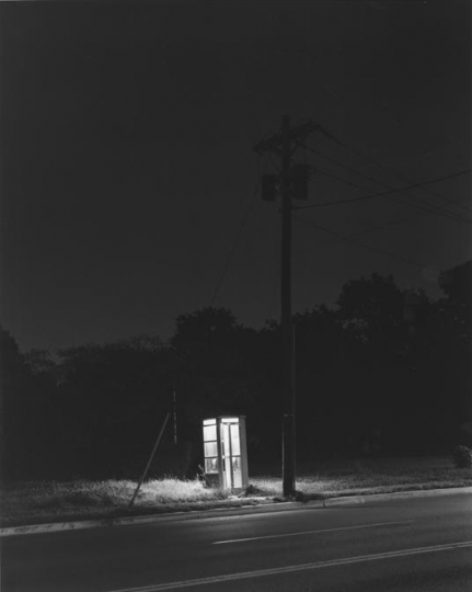 Telephone Booth, 3 A.M., Rahway, NJ, 1974 © George Tice