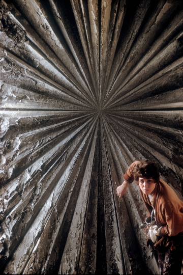 USA. San Francisco. 1960. Painter Jay DEFEO painting