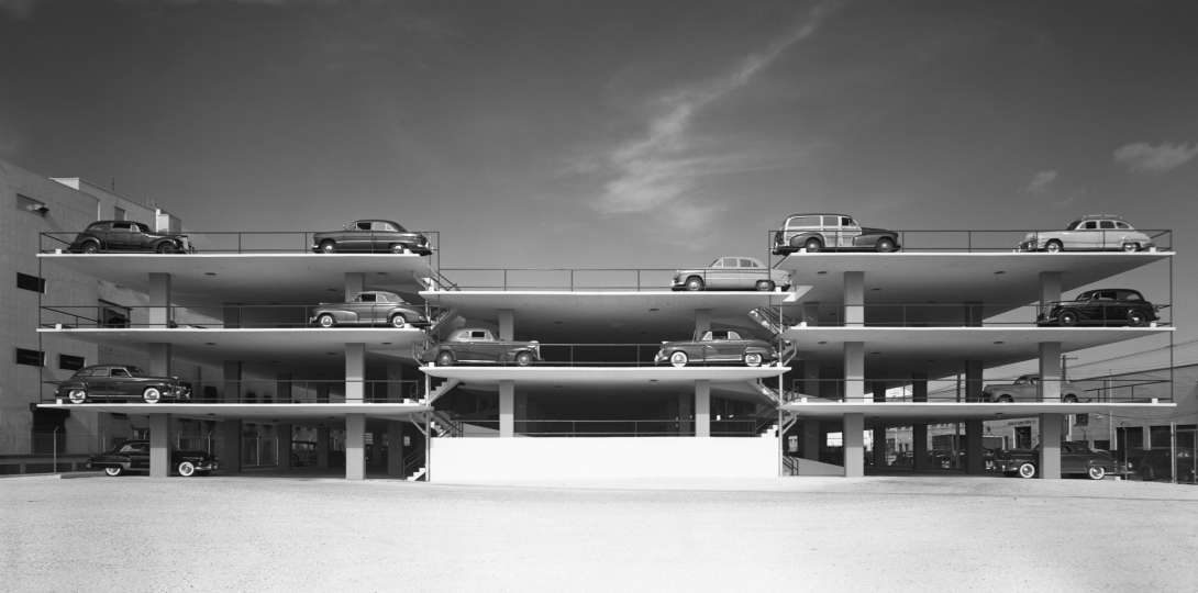 Miami Parking Garage. Robert Law Weed and Associates. Miami, FL, 1949 © Ezra Stoller, Courtesy Yossi Milo Gallery, New York