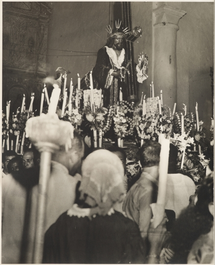 Sid Grossman. Black Christ, 1945. Gelatin silver print. 13 1/8 x 8 3/4 inches. Collection Pérez Art Museum Miami, gift of Jeffrey Hugh Newman. © Estate of Sid Grossman/Courtesy of Howard Greenberg Gallery, NY.