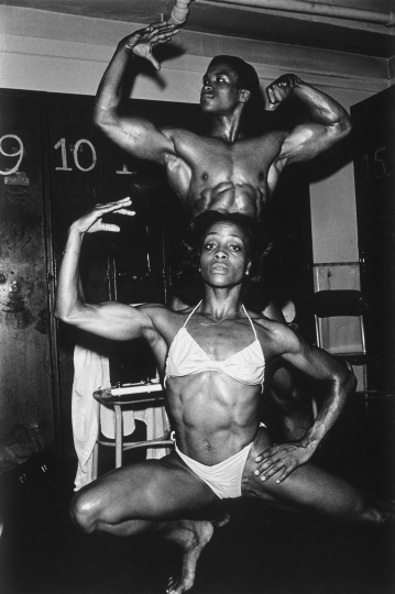 Bodybuilding Competition at Washington Irving High School New York, 1980 © Arlene Gottfried – Sometimes Overwhelming