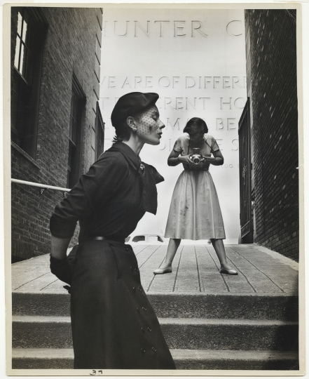 Gordon Parks American, 1912–2006 Bettina and Frances McLaughlin-Gill, New York, 1950 Gelatin silver print 34.3 x 27.3 cm (13 1/2 x 10 3/4 in.) Courtesy of Beth Rudin DeWoody Courtesy of and copyright The Gordon Parks Foundation