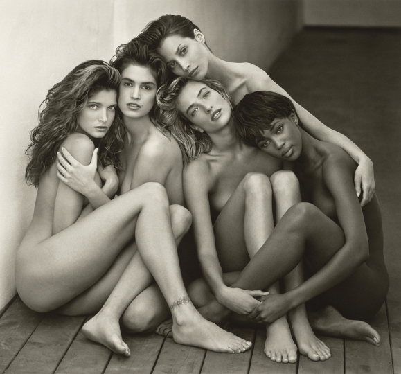 Herb Ritts American, 1952–2002 Stephanie, Cindy, Christy, Tatjana, Naomi, Hollywood, 1989 Gelatin silver print 46.8 x 50.3 cm (18 7/16 x 19 13/16 in.) The J. Paul Getty Museum, Los Angeles, Gift of Herb Ritts Foundation © Herb Ritts Foundation