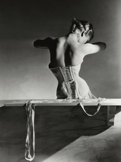 Horst P. Horst American, born Germany, 1906–1999 The Mainbocher Corset, Paris, 1939 Gelatin silver print 55.2 x 40.6 cm (21 3/4 x 16 in.) Courtesy Fahey/Klein Gallery, Los Angeles © Condé Nast / Vogue, September 15, 1939