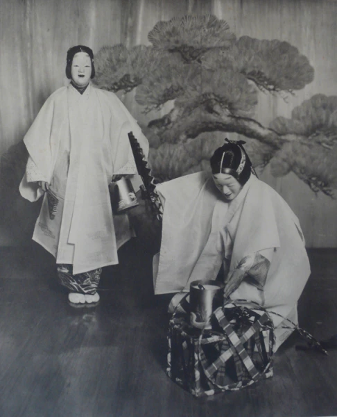 © Kazuma Ogawa, Theatre of Noh C1890, vintage collotype, Courtesy of the Michael Hoppen Gallery