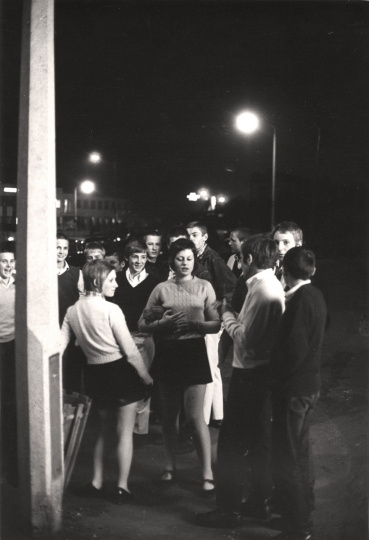 A group of male and female skinhead 'Mods' on the street, Borehamwood, 1969, © Terrry Spencer