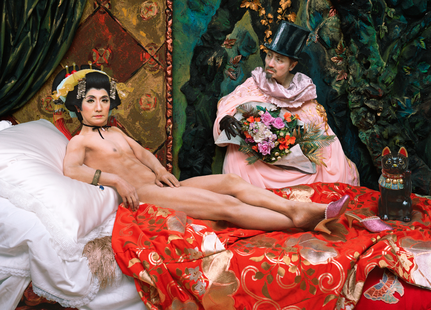 Yasumasa Morimura, Une moderne Olympia, 2018. Courtesy of the artist and Luhring Augustine, New York. © Yasumasa Morimura
