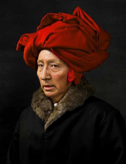 Yasumasa Morimura, Self-Portraits through Art History (Van Eyck in a Red Turban), 2016. Courtesy of the artist and Luhring Augustine, New York. © Yasumasa Morimura