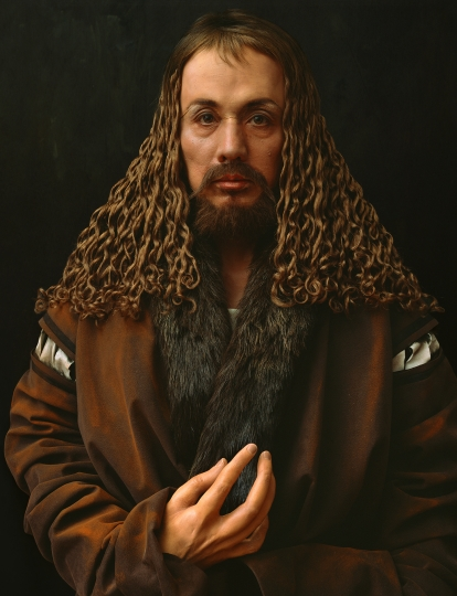Yasumasa Morimura, Self-Portraits through Art History (Dürer's Hand is Another Face), 2016. Courtesy of the artist and Luhring Augustine, New York. © Yasumasa Morimura