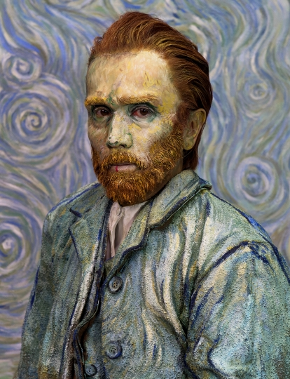 Yasumasa Morimura, Self-Portraits through Art History (Van Gogh / Blue), 2016. Courtesy of the artist and Luhring Augustine, New York. © Yasumasa Morimura