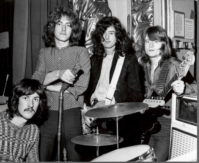 3 March 1969. BBC 'Top Gear' Playhouse Theatre, London UK © Jimmy Page Collection – Courtesy Reel Art Press