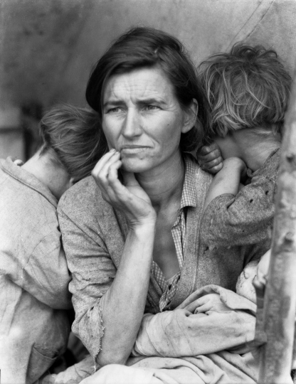 Migrant Mother, Nipomo, California 1936 Dorothea Lange © The Dorothea Lange Collection, the Oakland Museum of California, City of Oakland. Gift of Paul S. Taylor