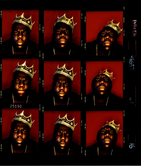 King of New York 1997 contact sheet © Photo by Barron Claiborne – Courtesy Annenberg Space for Photography