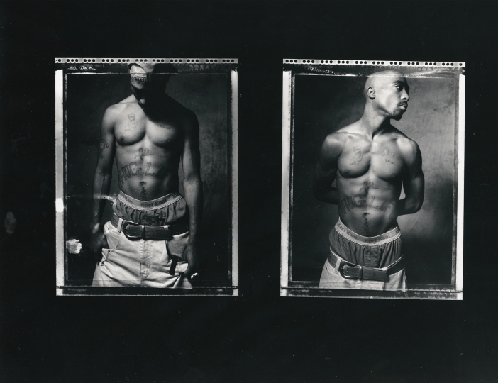 Tupac 199 contact sheet © Photo by Danny Clinch – Courtesy Annenberg Space for Photography