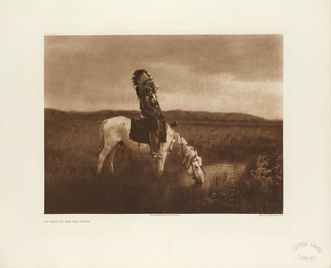 An oasis in the Bad Lands, one of the most celebrated images from The North American Indian by Edward S Curtis. - The North American Indian by Edward S Curtis - courtesy of Swann Auction Galleries