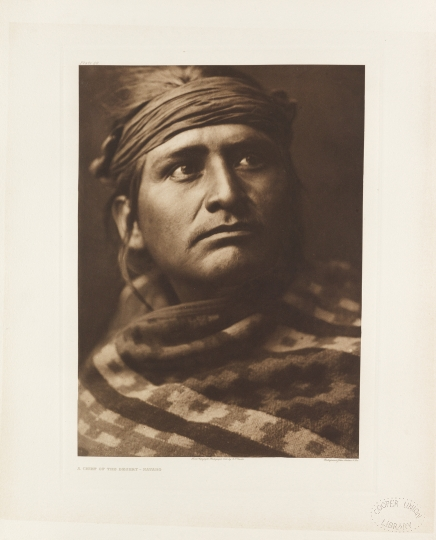 Navaho. A chief of the desert. Southwestern United States. - The North American Indian by Edward S Curtis - courtesy of Swann Auction Galleries
