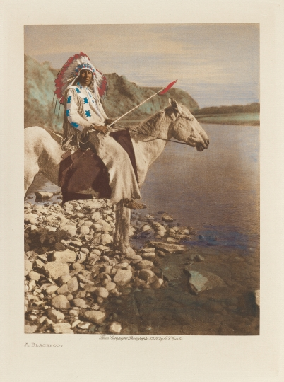 A Blackfoot. - The North American Indian by Edward S Curtis - courtesy of Swann Auction Galleries