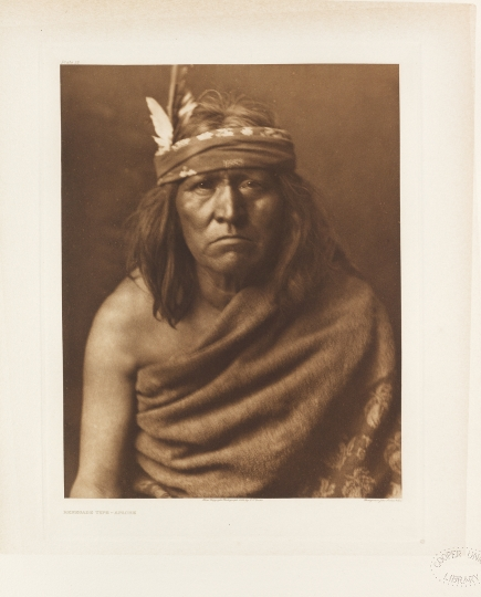 Renegade type – Apache. - The North American Indian by Edward S Curtis - courtesy of Swann Auction Galleries