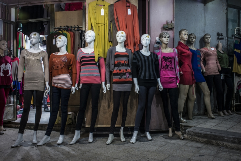 Manequins show off available clothing in a shop near the main street of Gaza. - Gaza Girls: Growing Up in the Gaza Strip © Monique Jaques