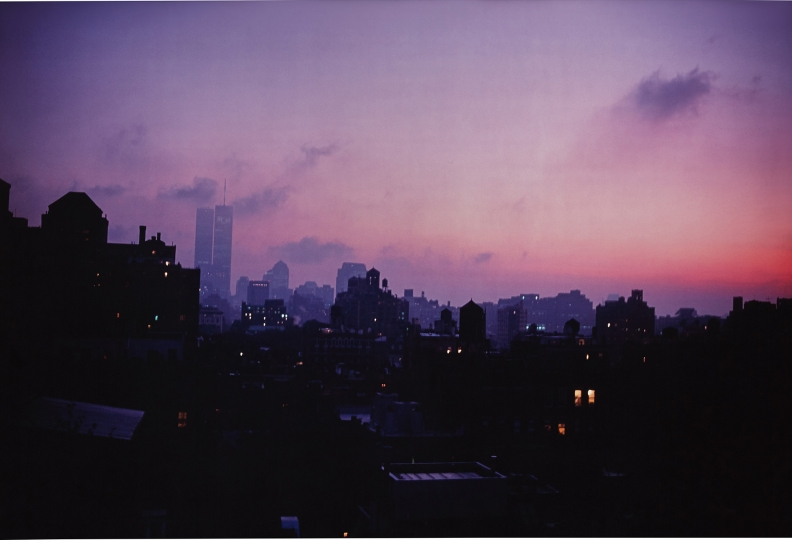 NAN GOLDIN Skyline from my window, NY 1999 Dye destruction print. 26 x 38 3/8 in. (66 x 97.5 cm) Signed, titled, dated and numbered 7/15 in ink on the reverse of the flush-mount. Image courtesy of Phillips Estimate: $15,000 - 25,000