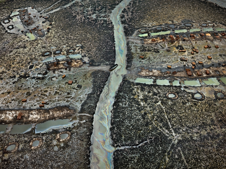 Oil Bunkering #1, Niger Delta, Nigeria, 2016, (c) Edward Burtynsky, Courtesy of Flowers Gallery, London and Metivier Gallery, Toronto