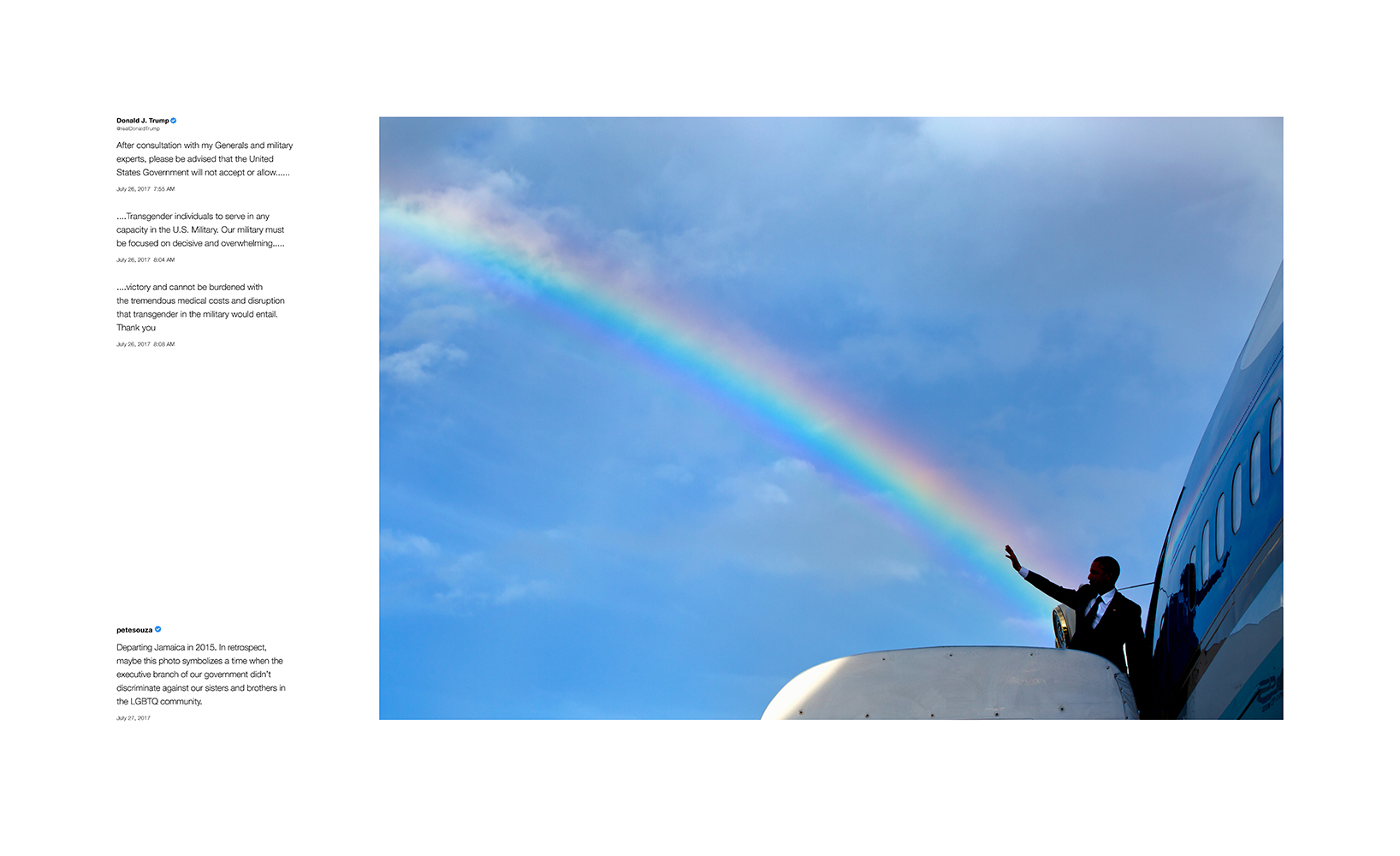 Shade #1, 2018 Archival pigment print, printed 2018 22h x 36w in Edition of 13 + 2 APs; Signed and numbered by photographer © Pete Souza – Courtesy Steven Kasher Gallery