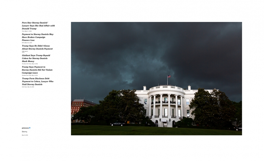 Pete Souza Shade #3, 2018 Archival pigment print, printed 2018 22h x 36w in Edition of 13 + 2 APs; Signed and numbered by photographer © Pete Souza – Courtesy Steven Kasher Gallery