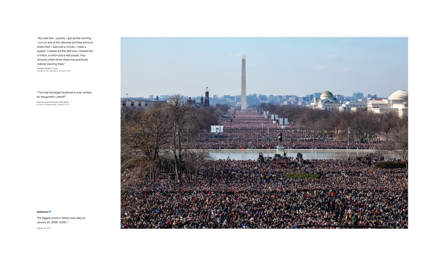 Pete Souza Shade #4, 2018 Archival pigment print, printed 2018 22h x 36w in Edition of 13 + 2 APs; Signed and numbered by photographer © Pete Souza – Courtesy Steven Kasher Gallery