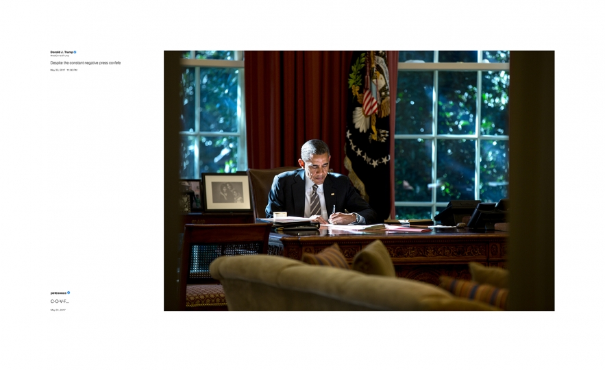 Shade #6, 2018 Archival pigment print, printed 2018 22h x 36w in Edition of 13 + 2 APs; Signed and numbered by photographer © Pete Souza – Courtesy Steven Kasher Gallery